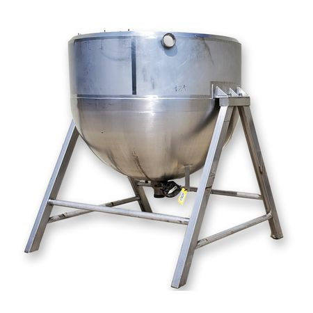 Used 600 Gallon Stainless Steel Jacketed Kettle