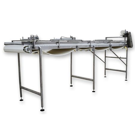 "Used 40""W X 16'L Stainless Steel Sanitary Intralox Belt Conveyor"