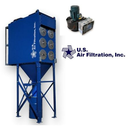 New US Air Filtration Industrial Cartrige Dust Collector 3DCP-12 w/ 5200 CFM Fan