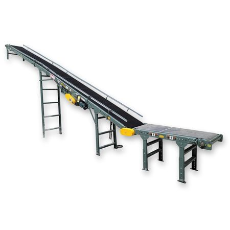"Used Hytrol Incline Slider-bed Belt Conveyor Model TA - 24""W X 29'L"