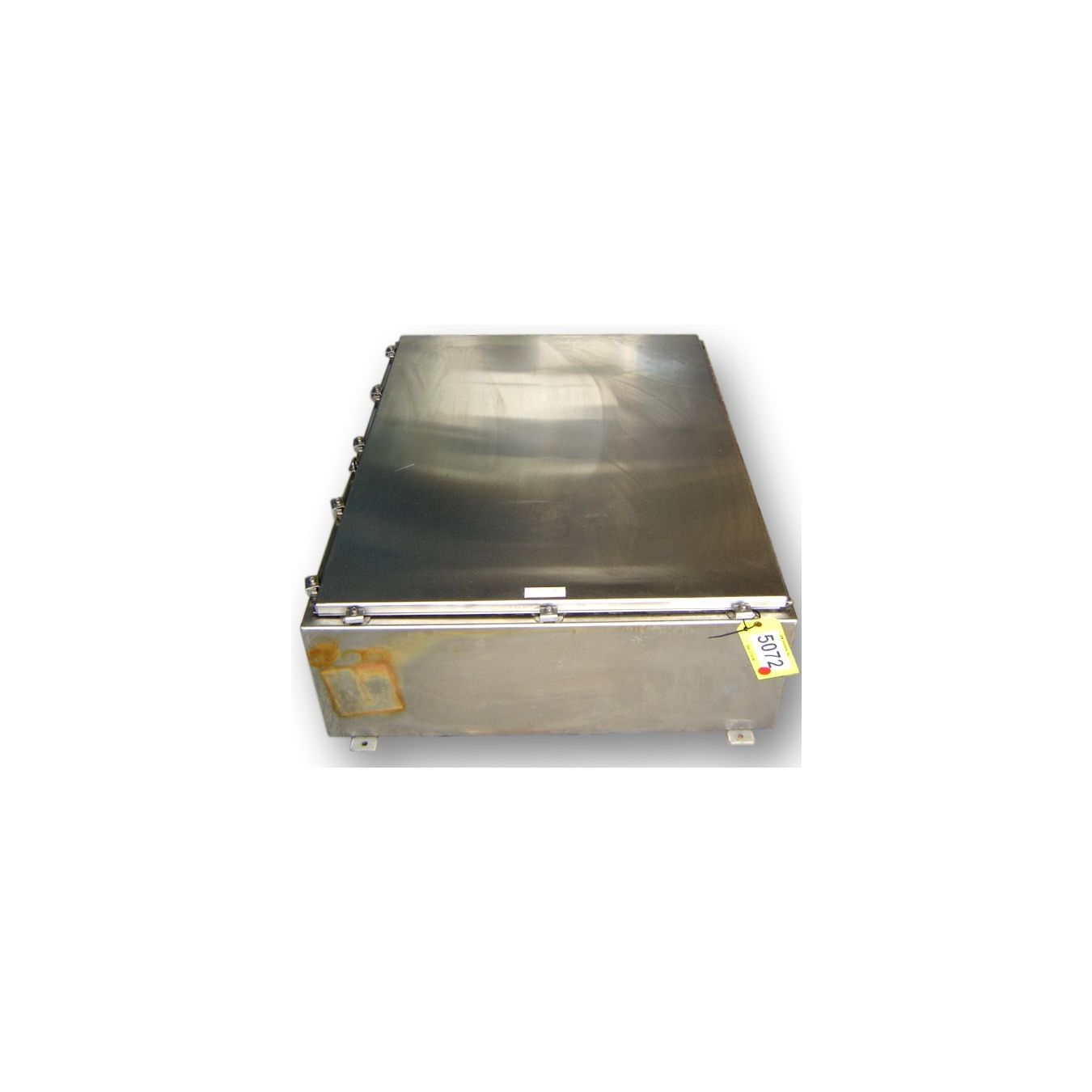 Large stainless steel systems control box electrical