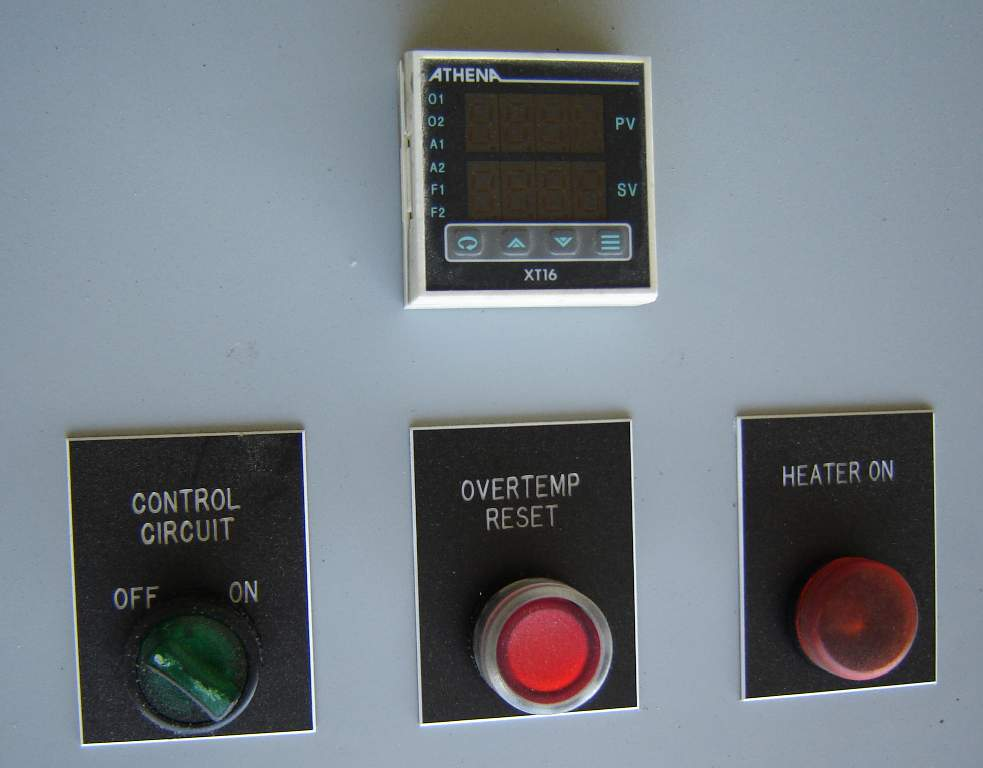 Indeeco Athena Heating Element Power Control Panel Heat