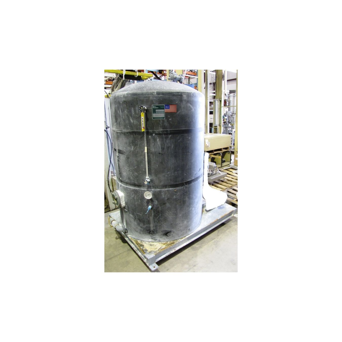 Liquid Dry Coolers : Used gallon carbon steel insulated tank dry coolers