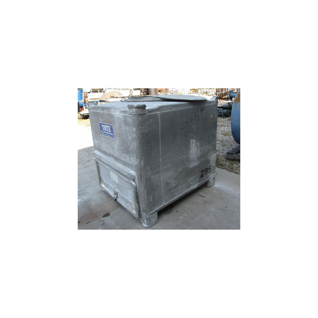 42 Cubic Foot Aluminum Tote Bin Used Storage Bins