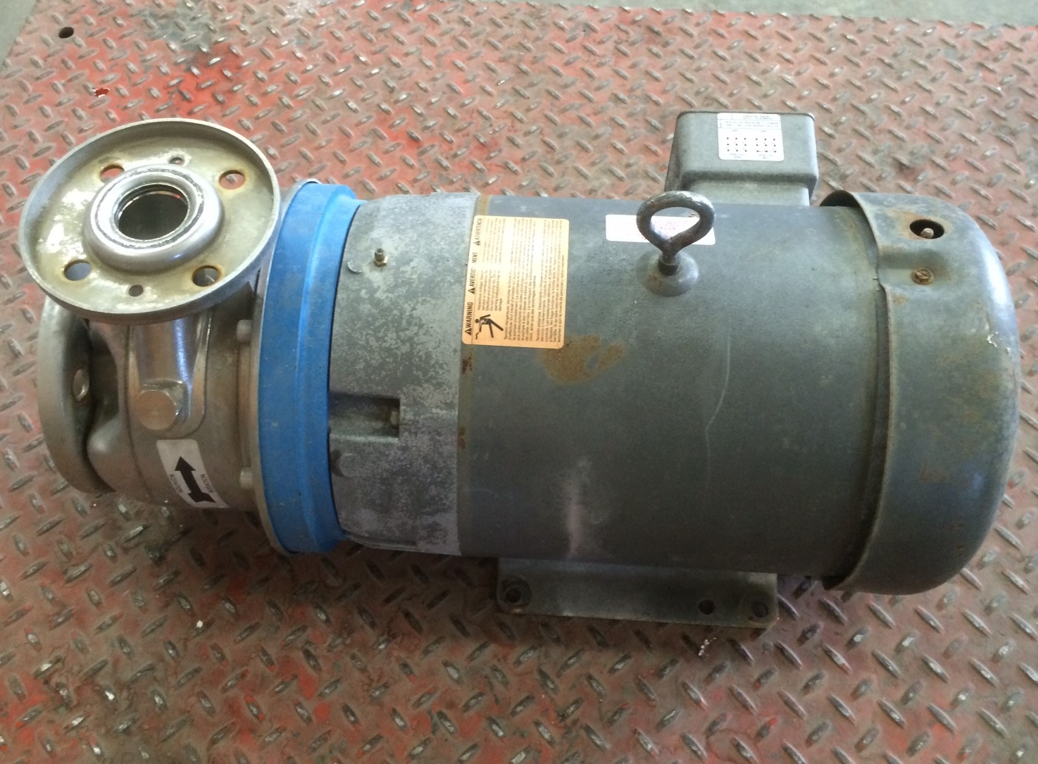 Used 7 5 Hp Goulds 316 Stainless Steel Centrifugal Pump 1