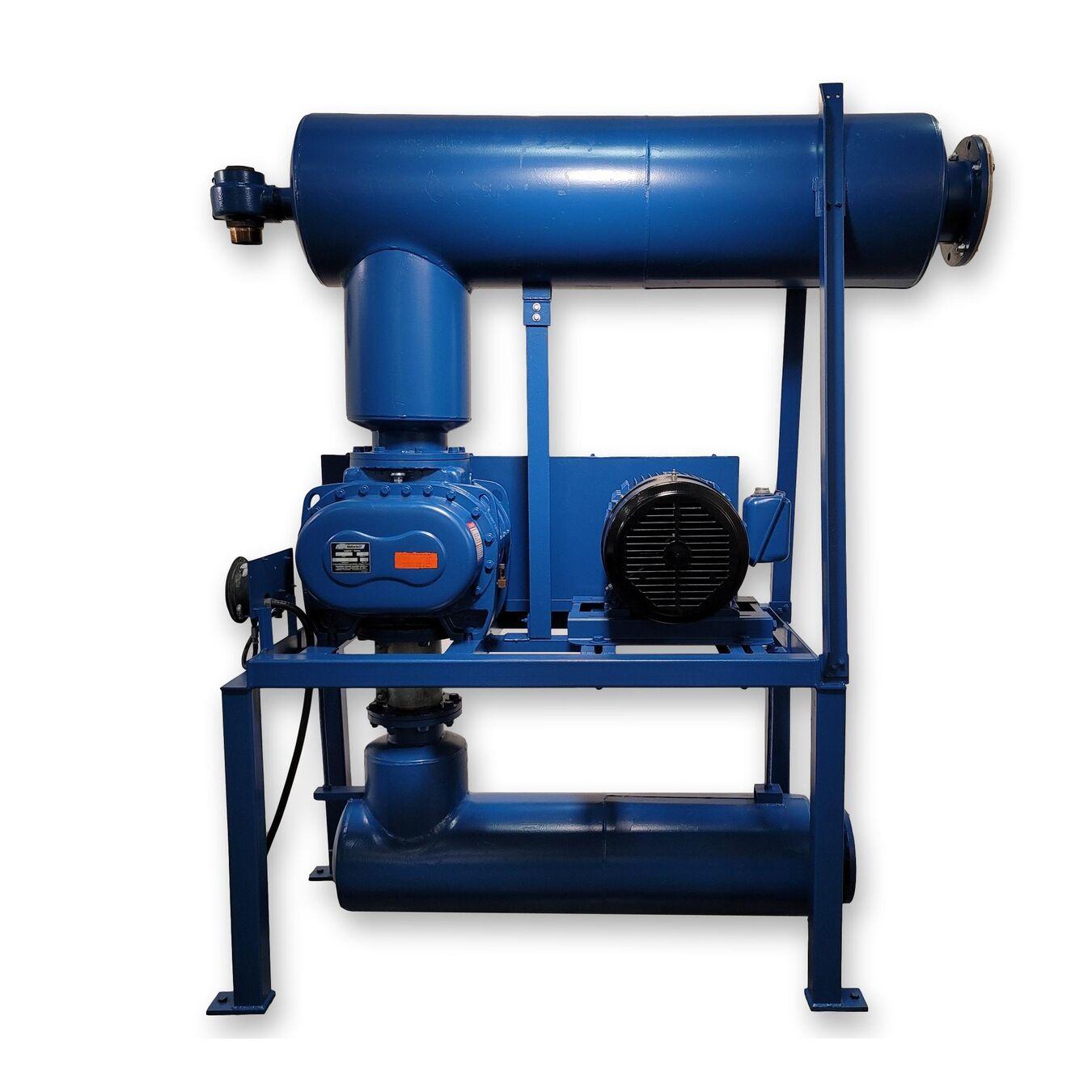 Vacuum Blowers Industrial Process : Used hp gardner denver blower pkg sutorbilt vacuum