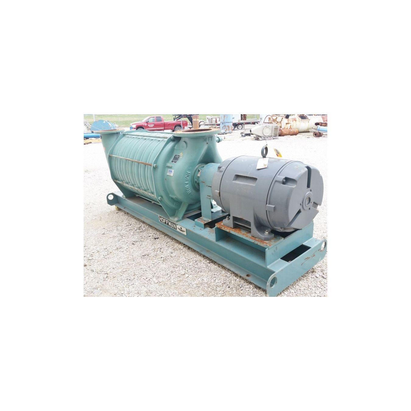 Hoffman Centrifugal Blower : Used hoffman multi stage centrifugal blower model b