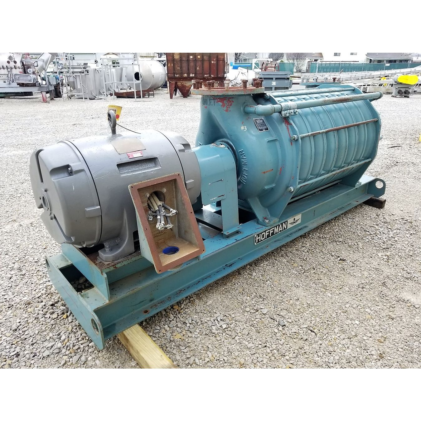Two Stage Centrifugal Blower : Used hoffman multi stage centrifugal blower model b
