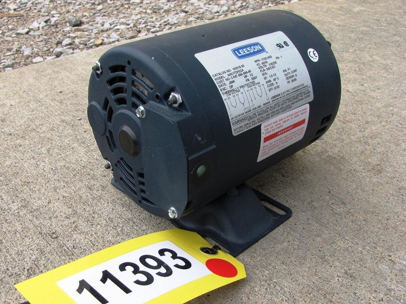 Unused leeson electric motor 1 3 hp motors drives for Dc motor 1 3 hp