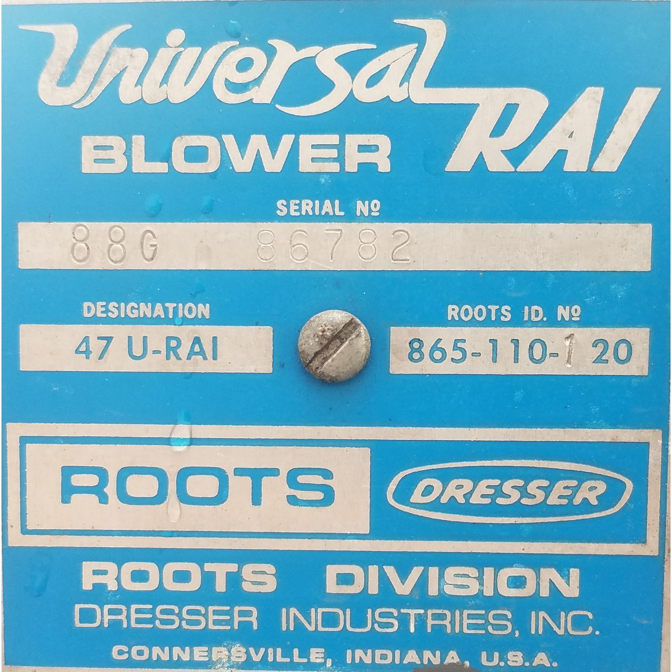 Used 7 5 Hp Roots Dresser Rotary Lobe Positive Displacement Er Pkg 47 U Rai
