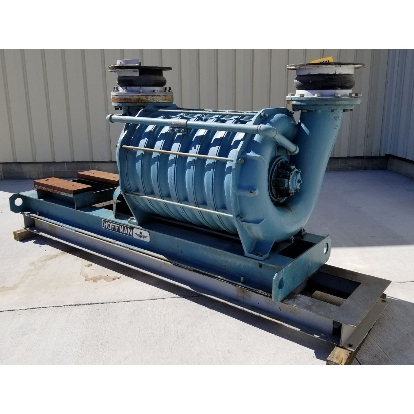 Two Stage Centrifugal Blower : Used hoffman centrifugal multistage blower model a
