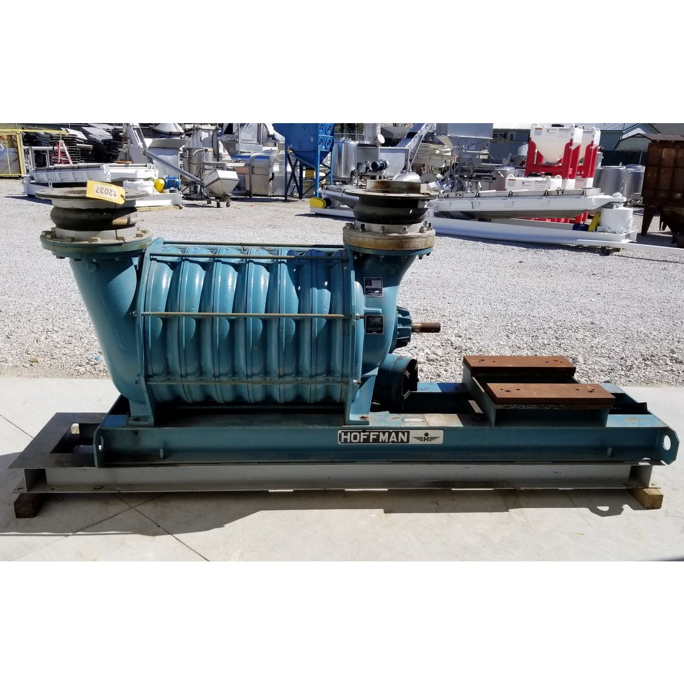 Hoffman Centrifugal Blower : Used hoffman centrifugal multistage blower model a