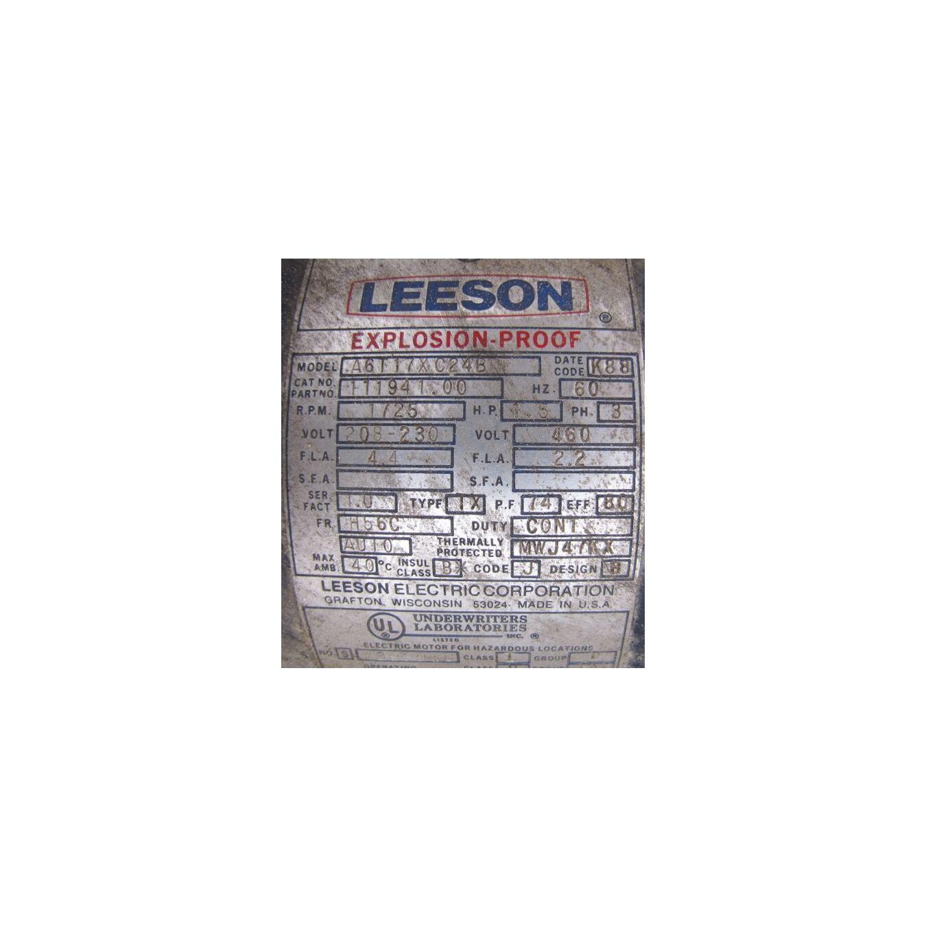Used bliss rotary feeder magnet valves for Leeson explosion proof motor