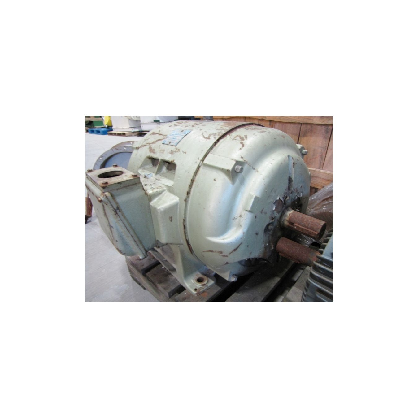 Used 150 hp brook motor corp drip proof induction motor for Furnace brook motors inventory