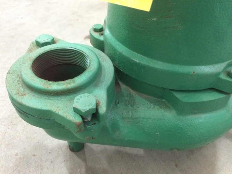 Used 3  4hp Hydromatic Submersible Sump Effluent Sewage Pump Model Sk75m4   Pumps