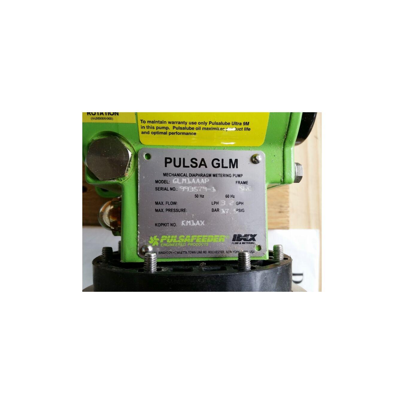 Unused Pulsafeeder Mechanical Diaphragm Metering Pump Pulsa GLM 1AAAP