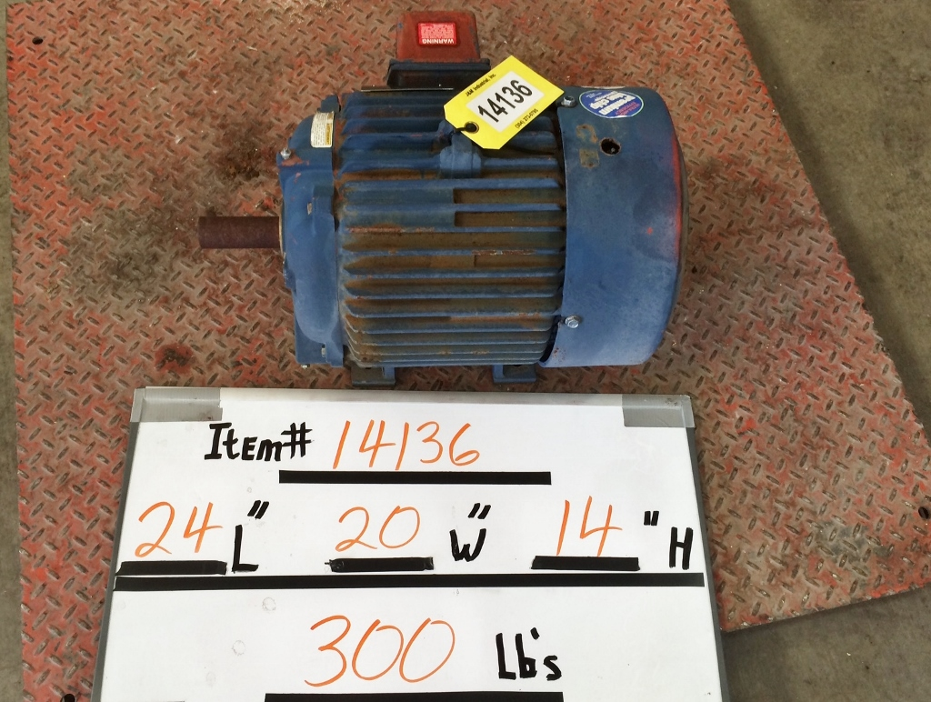 Used 15HP Marathon Electric XRI Motor 254T Frame [3550 RPM] : Motors ...