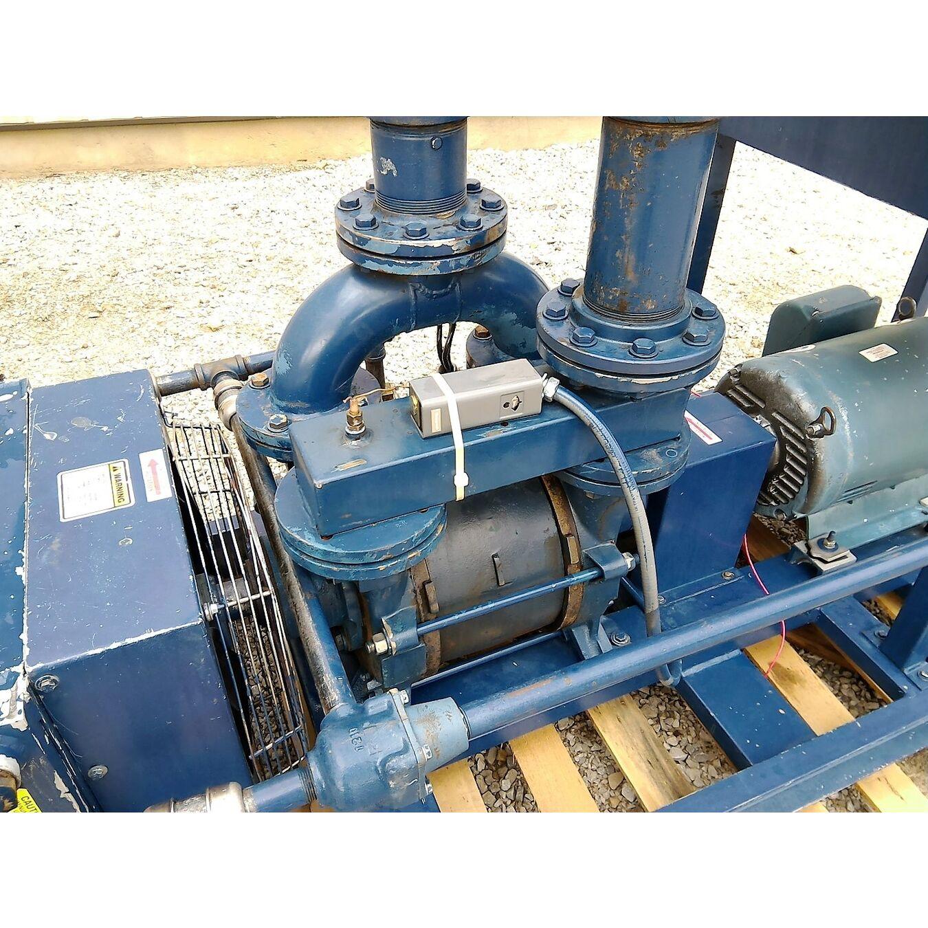 Used 25 Hp Travaini Air Cooled Liquid Ring Vacuum Pump