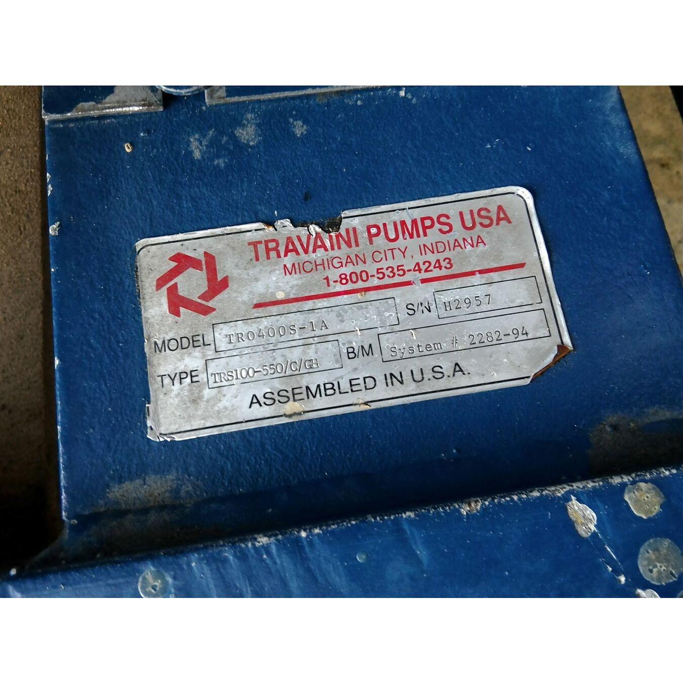 Used 25 Hp Travaini Air Cooled Liquid Ring Vacuum Pump Package Tro Diagram Nash Series