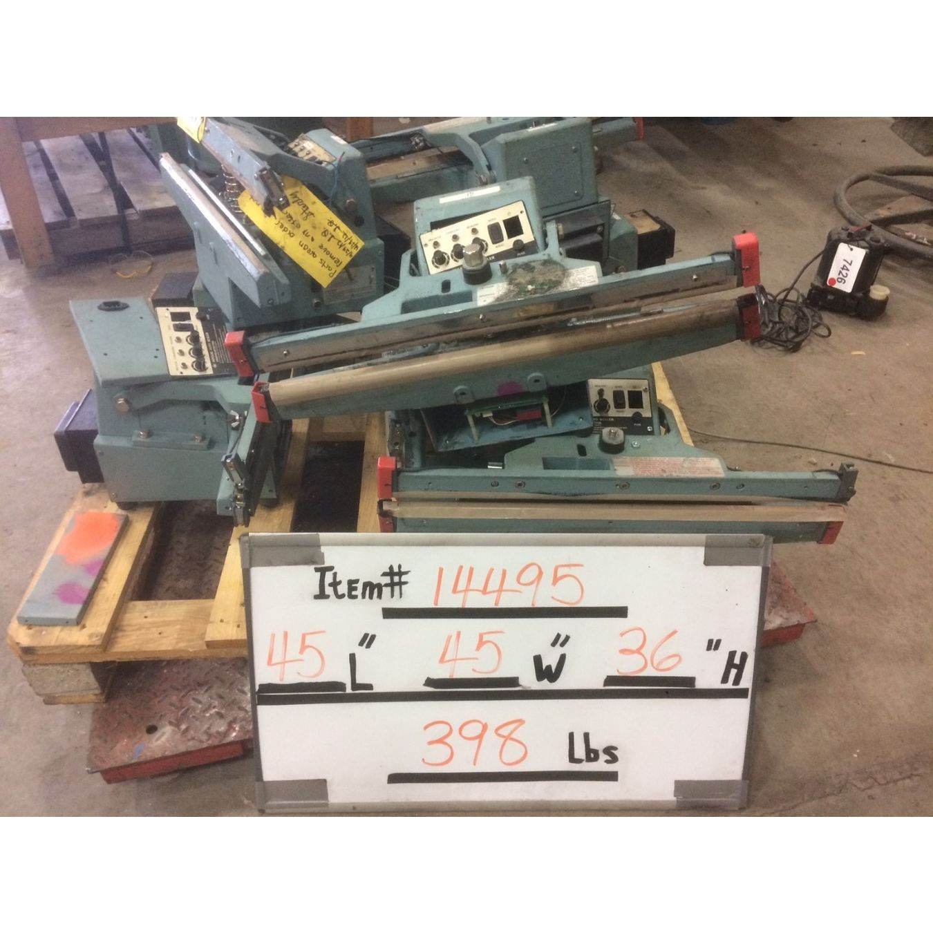 Used Impulse Foot Heat Sealers (PARTS) - Model AIE-610FDA