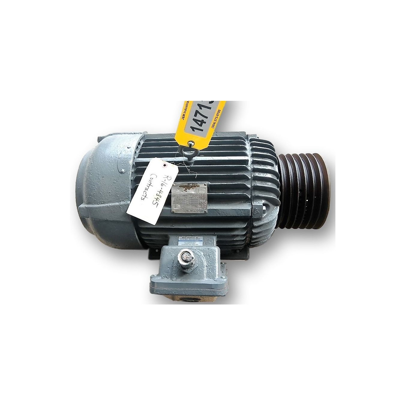 Used 20 Hp Teco Westinghouse Motor 286u Frame 1755 Rpm
