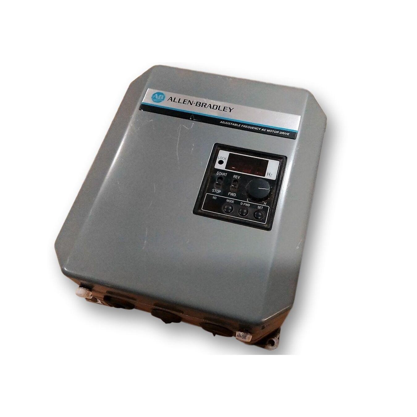 Used 1.0 HP Allen Bradley VFD Speed controller CAT 1333-AAA ...