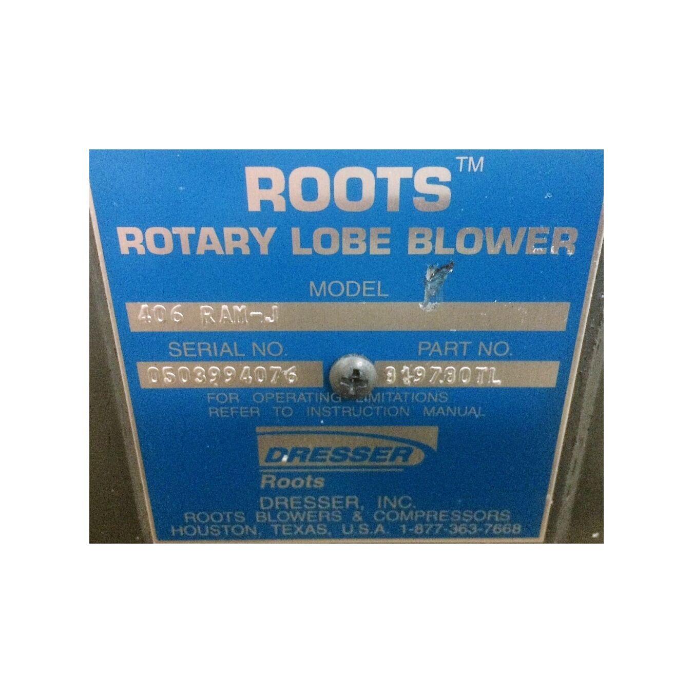 Roots Dresser Rotary Lobe Er 406 Ram J Unused