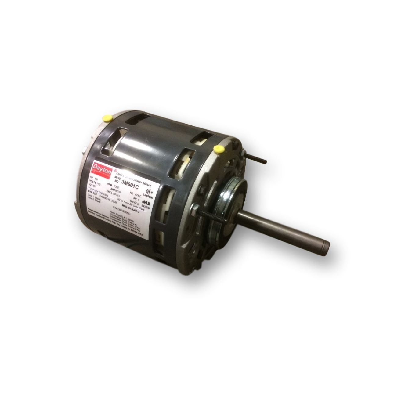 Dayton Direct Drive Fan Motor : Hp dayton m c direct drive blower motor yz frame