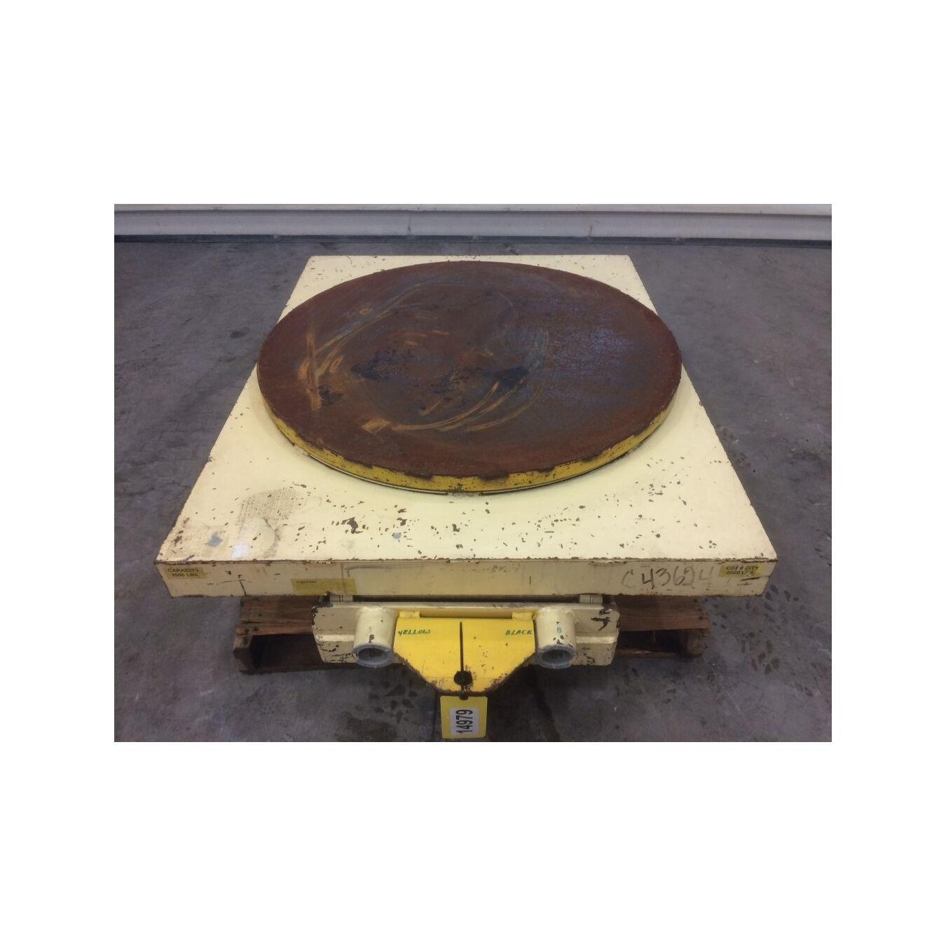 Used 2,500 lb capacity Southworth Electric Scissor Lift Table Model PLSH2-64