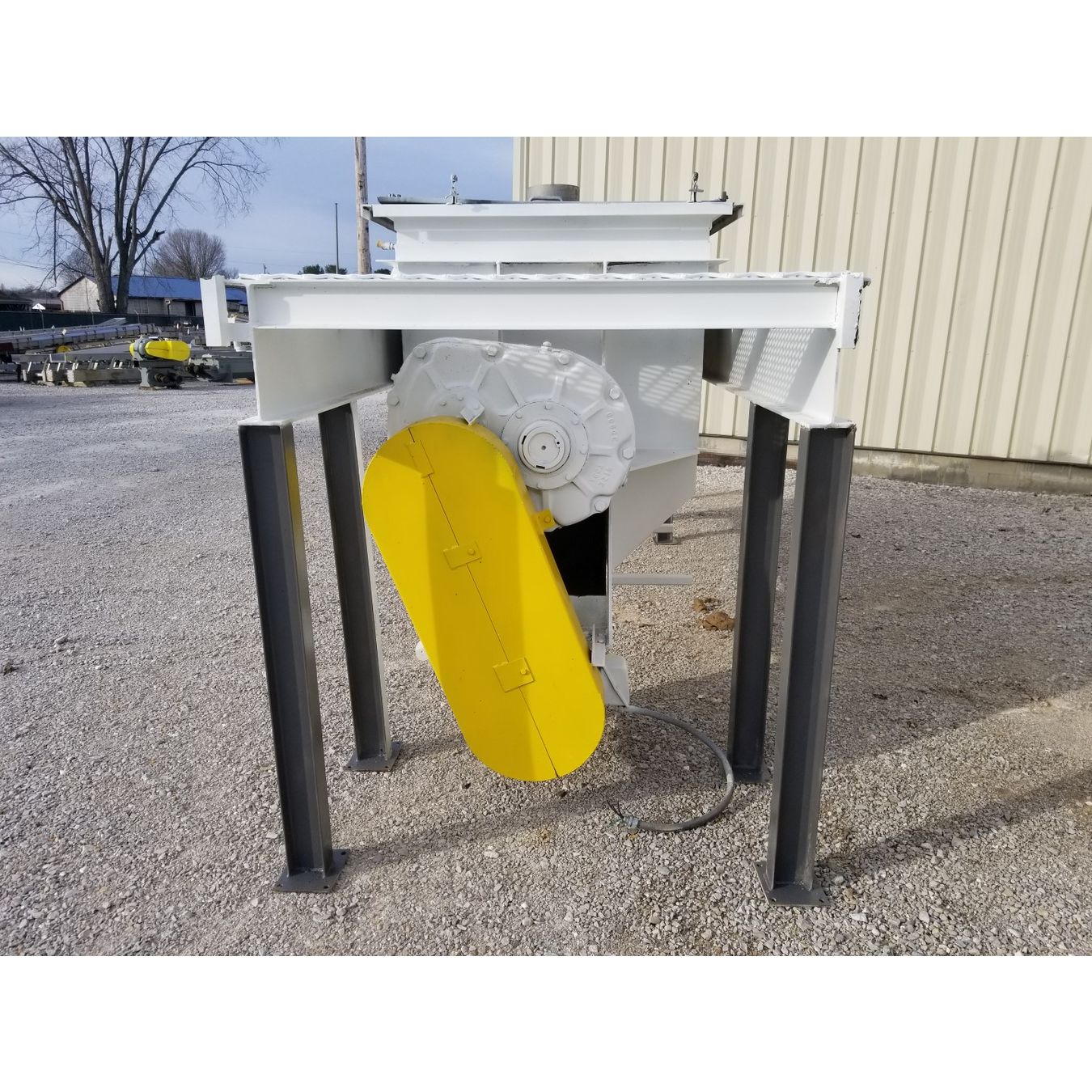 Used S Howes Cubic Foot Stainless Steel Double Ribbon Blender - 10 ft stainless steel table