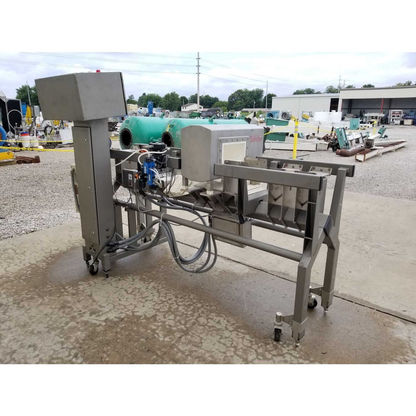 Used Safeline Metal Detector With Mettler Toledo Hi Speed Load Cell Wiring Checkweigher