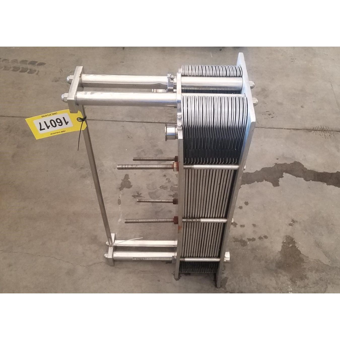 Steel Plate For Sale >> Used Crepaco Stainless Stainless Steel Plate Type Heat Exchanger