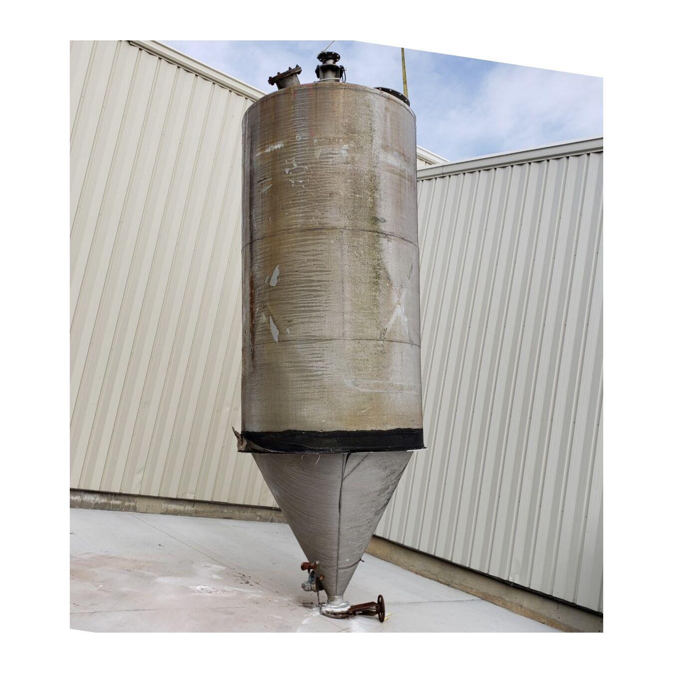 Used 350 cu ft  Aluminum Silo Storage Bin Cone Hopper