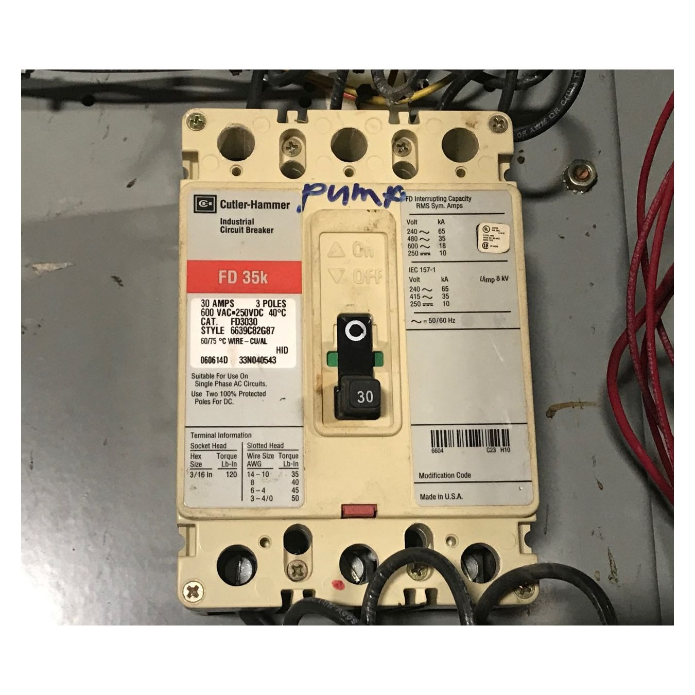 Used 2 Size 1 Motor Starter Fusible Disconnect With