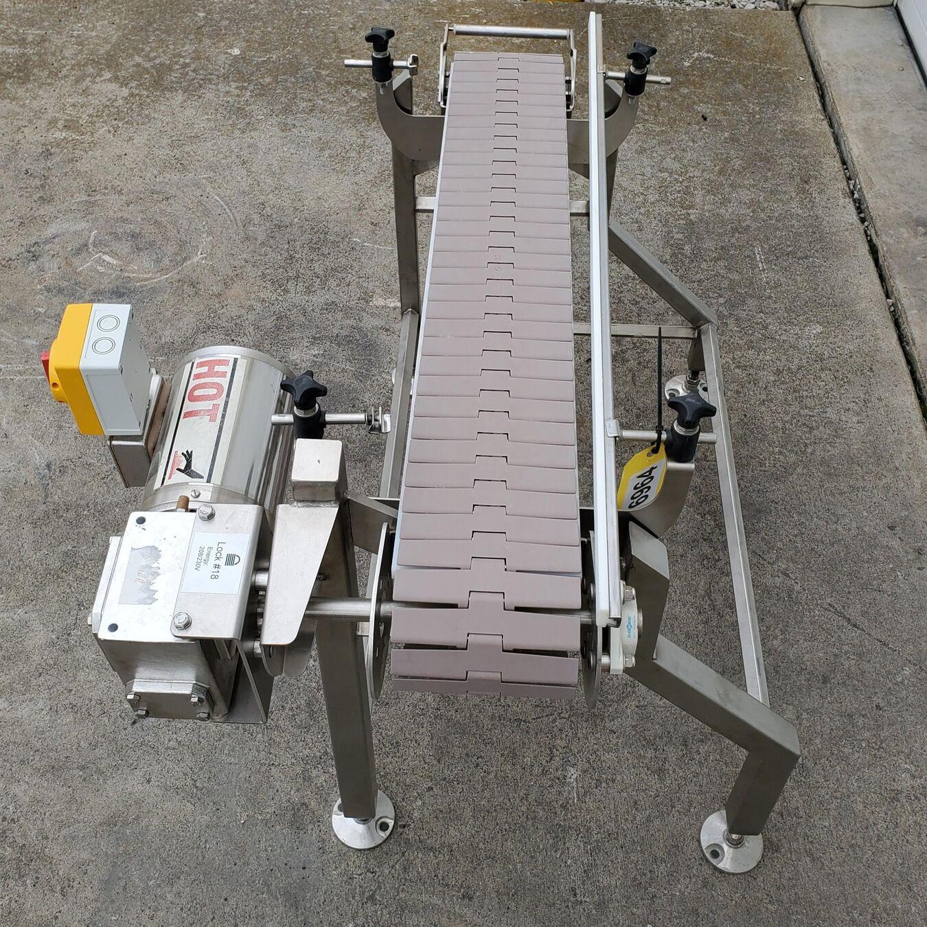 Used NextConveyor Stainless Steel Washdown Plastic Link Belt Conveyor