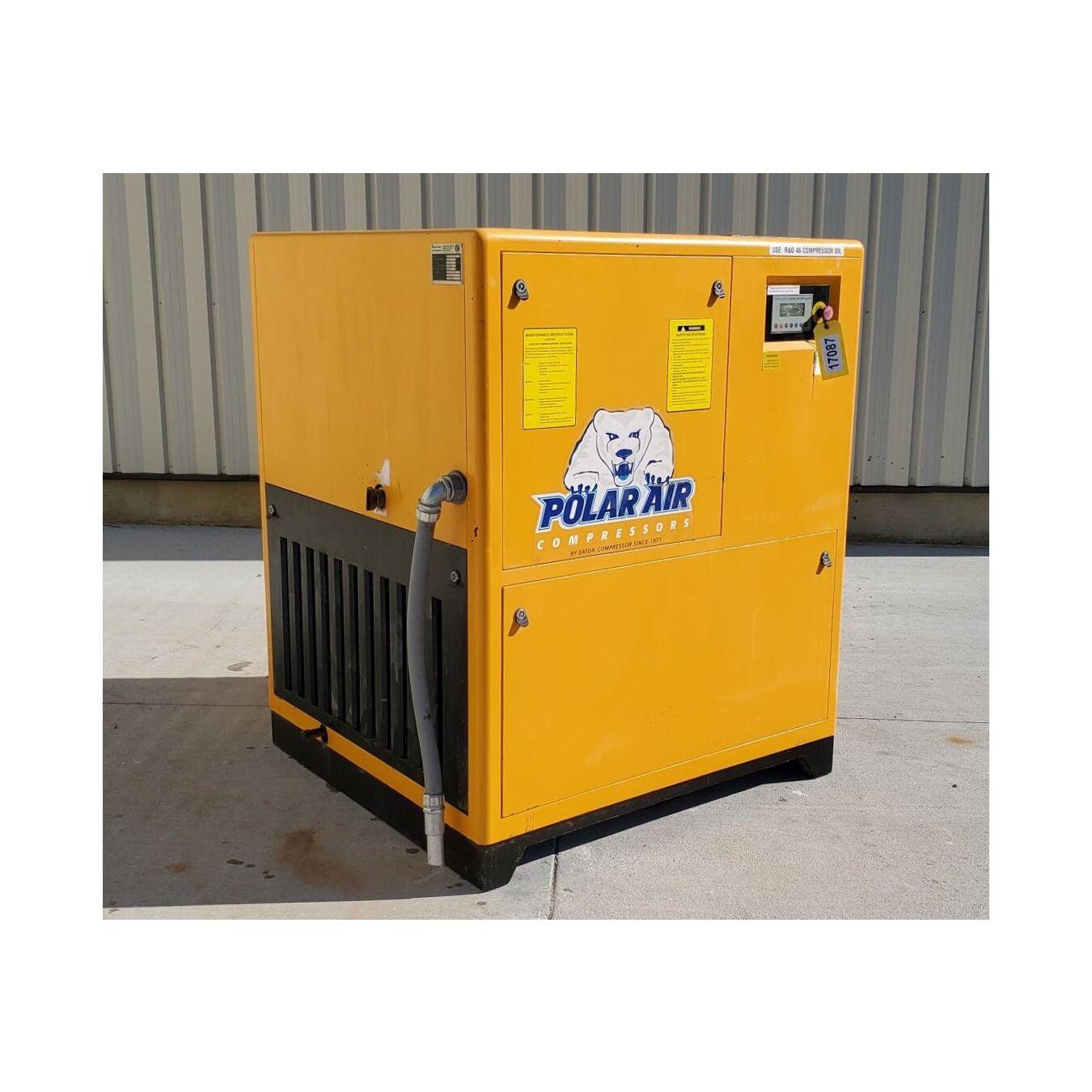 Used 50 Hp Polar Air Rotary Screw Compressor Pkg W Dryer
