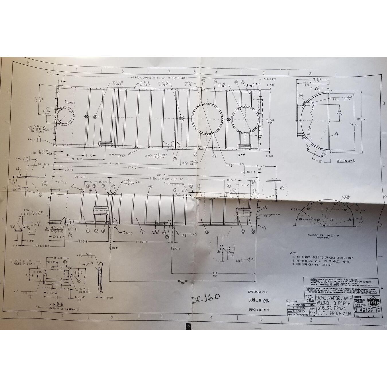 Denver Holo-flite Processor Dryer Mdl Q2424-6-DED Used